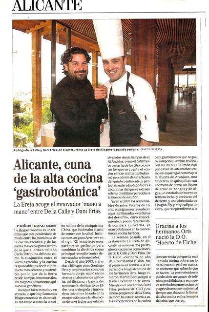 """Alicante, Cuna de la Alta cocina """"Gastrobotánica"""""""